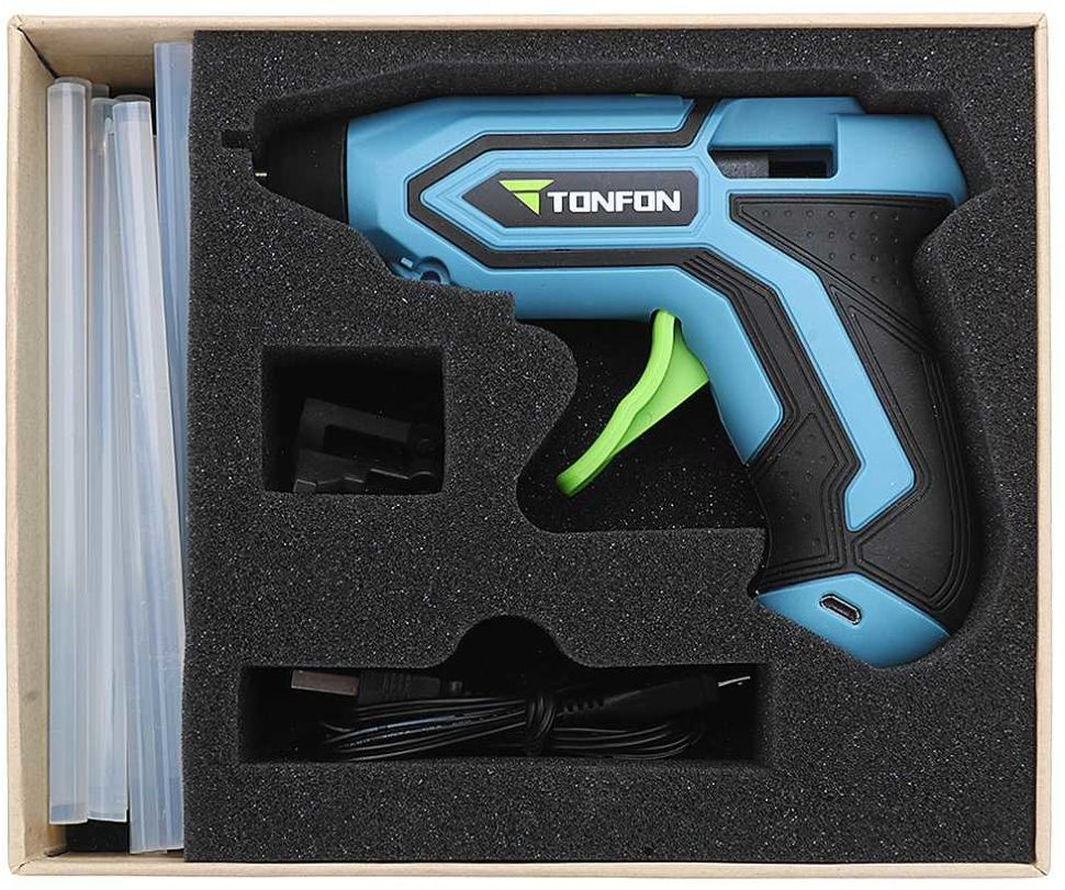 thumb картинка Клеевой пистолет Xiaomi Tonfon Wireless Electric Glue Gun 3.6V от магазина Fastoo